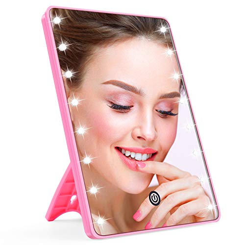 AHOOH Makeup Mirror for Women and Men, Lighted Makeup Vanity Mirror with -