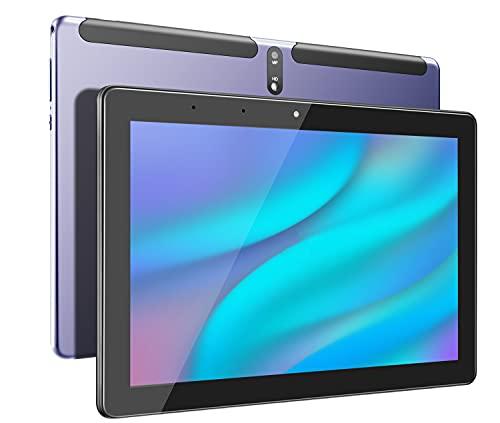Tablet 10 pulgadas,Tabletas Android 10,3 GB RAM, 32 GB ROM, pantalla Full HD de cuatro núcleos, batería de 6000 mAh, protector de funda (azul)