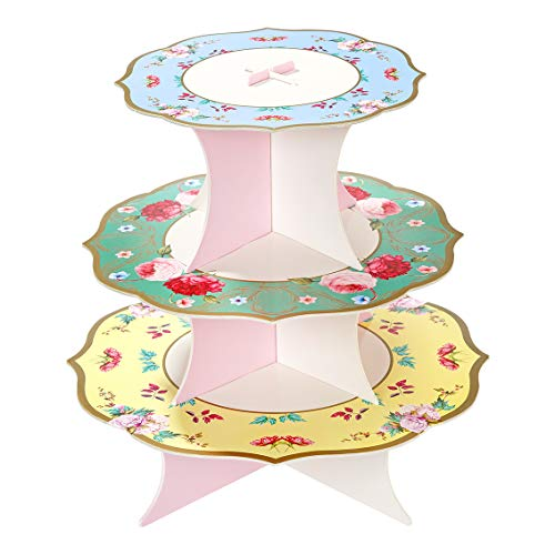 Talking Tables Truly Scrumptious Reversible Cakestand Perfect to Display Sweet or Savory Treats At Your Tea Party 37 x 30cm