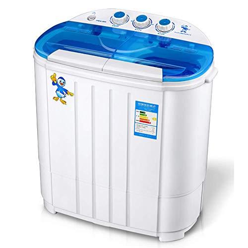 GONGFF Double Barrel Waschmaschine 2 in 1 Praktischen Haushalt Mini Halbautomatische Kleine Wäsche 3,6 kg Drehgeschwindigkeit 1000 Leistung 130-230W, Lila