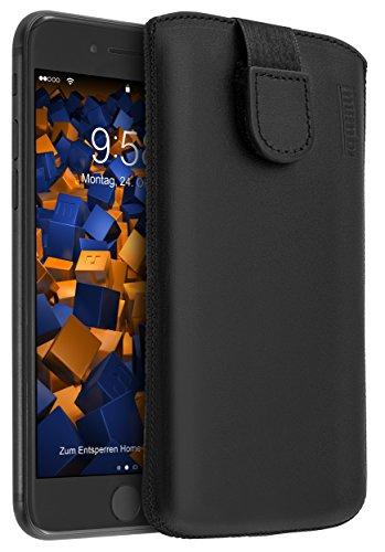 mumbi Echt Ledertasche kompatibel mit iPhone SE 2 2020 / 7 / 8 Hülle Leder Tasche Hülle Wallet, schwarz