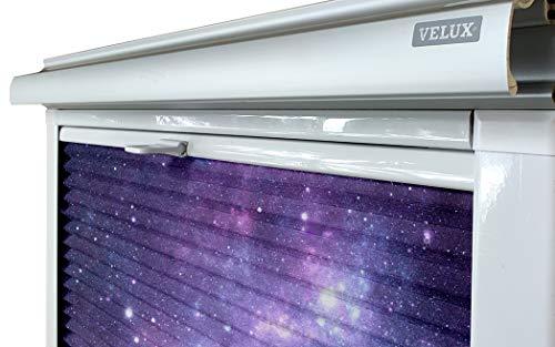 Home-Vision® Dachfenster Premium Doppelplissee Wabenplissee ohne Bohren Velux-kompatibel (Weiß-Galaxis für SK06 - Weiß) Zweifarbig Blickdicht Sonnenschutz, Alle Montage-Teile inklusive