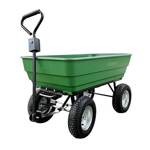 Camión de Mano de Cuatro Ruedas Remolque de Plataforma Plana volquete camión de extracción Carro Plegable Carretilla de Empuje agrícola Van casa Rueda de Gas