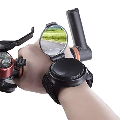 Rétroviseur de vélo pour vélo, accessoire de vélo, réglable à 360 °, pour guidon de moto, réflecteur, brassard pour le poignet, sécurité du poignet pour les personnes et les enfants, cadeau gadget