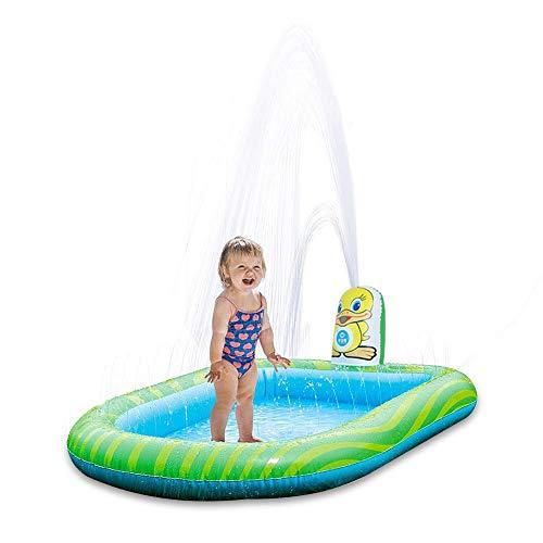 XXCLZ Inflable de riego Piscina Espesados El Medio Ambiente Suavizar Bordes de la Esquina Redonda Parque acuático de Piscina para niños,113 * 90CM