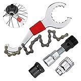 Inntek 4pcs Llave de Bicicleta, Herramienta de Reparación de Bicicleta,Reparación de Bicicleta de Montaña, Herramienta de Pedalier de Bicicleta Herramientas Mantenimiento de Bici