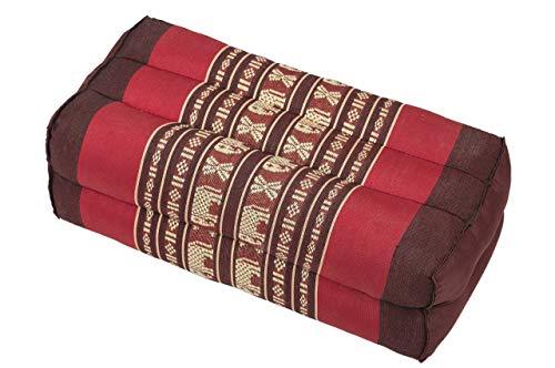 Handelsturm Bloque de Yoga para la meditación (35x15x10 cm, cojín de Soporte con Relleno de kapok), diseño Tradicional Rojo/Burdeos