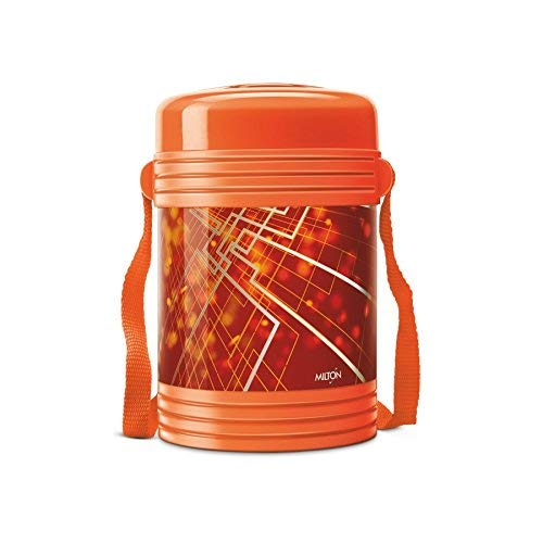 Milton New Design Insulated Lunch Box with 4 Leak Lock Containers, Orange
