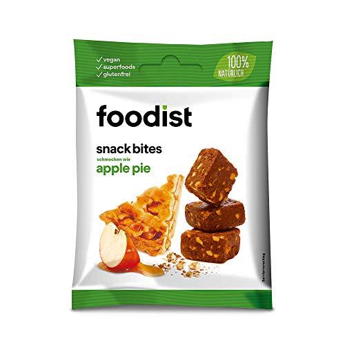 Foodist Snack Snack Apple Pie mit Dattelbasis, Fruchtriegel ohne Zuckerzusatz, glutenfrei, Mini Müsliriegel Bites im 10er Pack - Köstlich für Zwischendurch (10 x 55g)