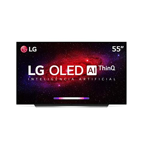 "Smart TV LG 55"" 4K OLED WiFi Bluetooth HDR Inteligência Artificial ThinQAI Smart Magic Google Assistente Alexa"
