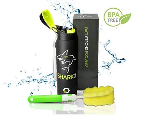 Borraccia in acciaio inox da 500 ml, senza BPA, per bambini, sport, ufficio, sottovuoto, thermos a doppia parete, in acciaio inox