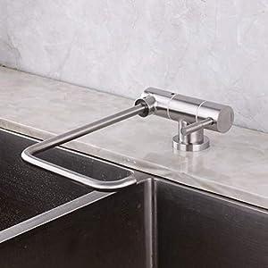 grifo cocina osmosis abatible, grifo cocina y osmosis, acero inoxidable 304, grifo abatible fregadero, grifo, 1/2″-A cepillado
