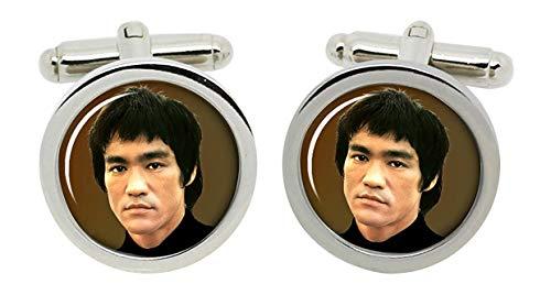 Gift Shop Bruce Lee Manschettenknöpfe in Chrom Kiste
