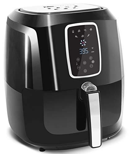 Elite Platinum 5.5 Quart Electric Digital Air Fryer Cooker, 1800-Watts with 26 Full Color Recipes (Black)