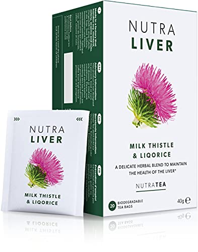 NutraLiver - Leber-Tee | Leber-Entgiftungs-Tee | Kater-Tee - Unterstützt die Leberregeneration – 20 Verpackte Teebeutel - von Nutra Tea – Kräutertee
