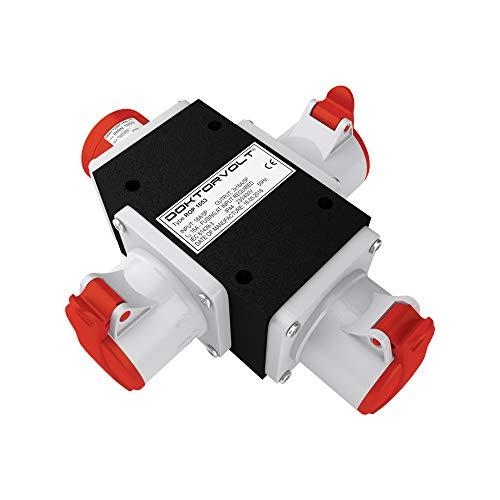 CEE Adapter 3 x 16A / 400 V Stromverteiler Baustromverteiler ROP 1653 Verteiler 6376