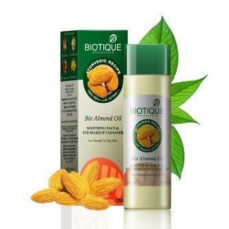 Biotique Bio Almond Oil Oothing Face & Eye Makeup Cleansers For Normal To Dry Skin 120Ml by Biotique