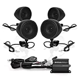Boss Audio Systems MCBK470B Motorcycle Bluetooth Speaker System - Class D Compact Amplifier, 3 Inch Weatherproof Speakers, Volume Control, Great for Use With ATVs and 12 Volt Vehicles