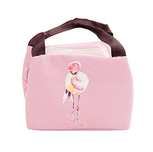 iSuperb Lunch-Taschen Wasserdichte Kühltasche Mtagessen Tsche Isoliert Lunch Bag für Erwachsene, Kinder, Mädchen, Frauen 21x17x15 CM (Rosa)