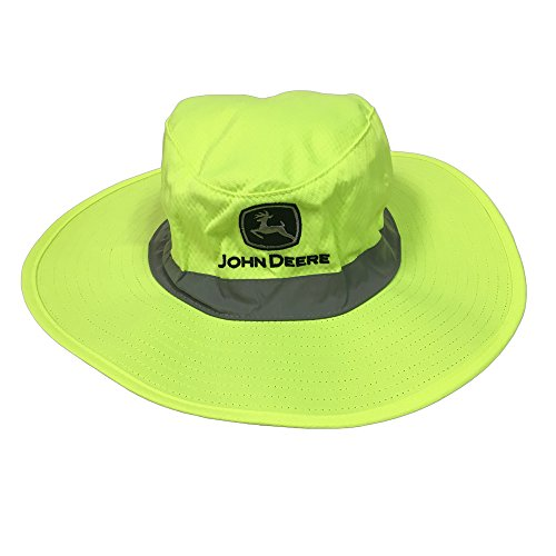 John Deere Brand High Visibility Neon Green Bucket Hat
