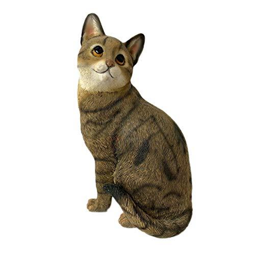 Darthome Ltd Sitting Tabby Kitten Ornament Decorative Figurine Home Cat Lover Gift Statue New 12cm