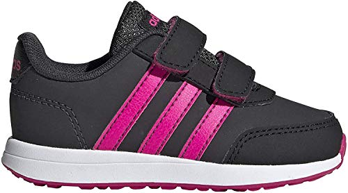 adidas Unisex-Baby VS Switch 2 CMF First Walker Shoe, Carbon/Shock Pink/Core Black, 23 EU