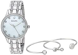 Crystal Boxed Set with Bangles And Dress Watch (Model: 96X145)
