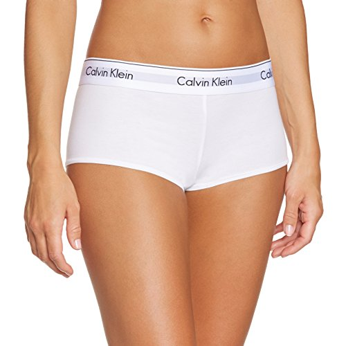 Calvin Klein Damen MODERN COTTON - SHORT Panties, Weiß (WHITE 100), S