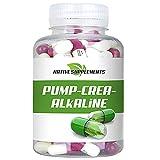 Pump Crea-Alkaline, 120 Kapseln pro Dose, Hochdosiert 6800mg / Tagesdosis, gepuffertes Kreatin,...