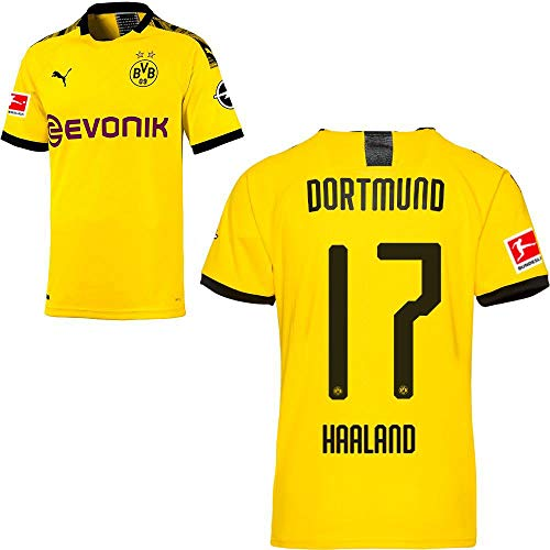 PUMA Borussia Dortmund BVB Heimtrikot 2019 2020 Home Trikot Sponsor BL Logo Kinder Erling Haaland 17 Gr 152