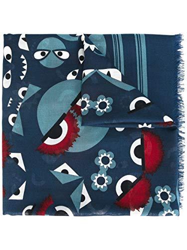 FENDI Luxury Fashion Damen FXT0698MZF02W5-MCF Blau Foulard   Jahreszeit Permanent