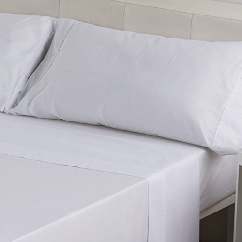 Sedalinne Sábanas HOTELES - Funda Almohada Calidad 30/27 (144 Hilos) 50% algodón - 50% poliéster. Medida: 45x125 cm. Color Blanco