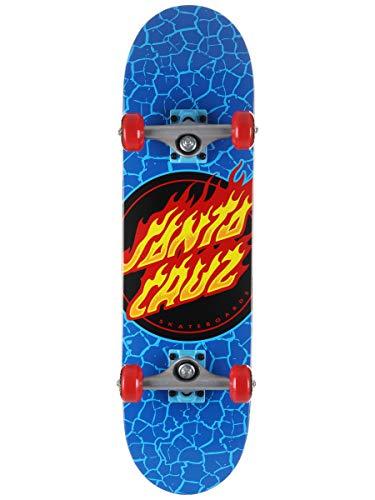 Santa Cruz Flame Dot Micro Factory - Skateboard completo, 19,5 cm, colore: Blu