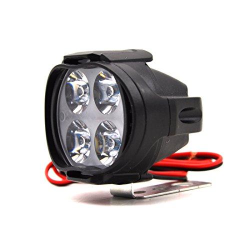 1 foco blanco LED de 12 W, brillante, para motocicleta, antiniebla