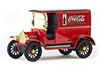 1917 Ford Model T Cargo Van Coca-Cola Red with Black Top 1/24 Diecast Model Car by Motorcity Classics 424197