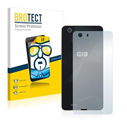 BROTECT Schutzfolie kompatibel mit Elephone S2 (Rückseite) (2 Stück) klare Bildschirmschutz-Folie
