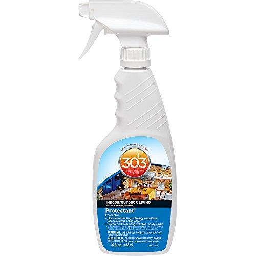 303 (30440) Indoor Outdoor Patio Furniture UV Protectant Spray for Vinyl, Plastic, Rubber, Fiberglass, Leather & More – Dust and Dirt Repellant - Non-Toxic, Matte Finish, 16 Fl. oz.