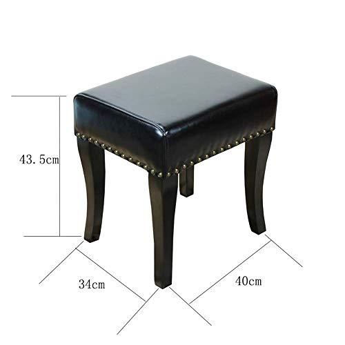 QQXX GBXX modieus, creatief, klein meubel, anti-slip, kruk, bank, kruk, kaptafel, van leer, robuust, kruk van massief hout, meerkleurig, multifunctioneel, creatief WBXX496r-8 Wbxx496r-8