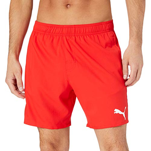 PUMA Herren Puma Men's Mid Shorts Swim Trunks, Red, XL EU