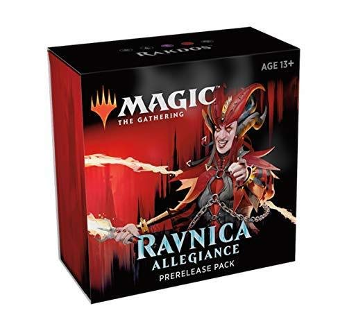 Magic The Gathering: Ravnica Allegiance Prerelease Pack Rakdos (Pre-Pelease Promo + 6 Boosters + d20 Spindown Counter) Kit