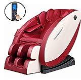 CSPFAIZA Elektrisch Massagesessel Elektrisches Sofa mit Wärmefunktion und Bluetooth-Lautsprecher, Anzkörper Kneten 3 Farben Erhältlich,Red