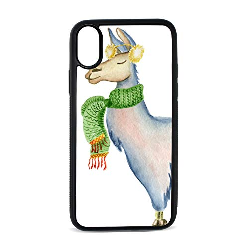DEZIRO Alpaca Sjaal Llama voor iPhone X Shock-Absorption Bumper Cover Telefoonhoesje iPhone X