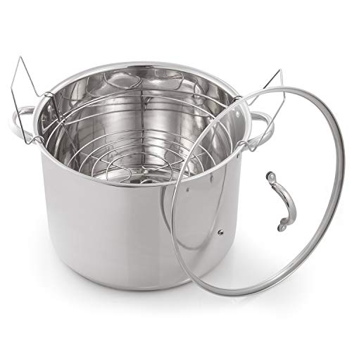 McSunley 620 Medium Stainless Steel Prep N Cook Water Bath Canner, 21.5 Quart, Silver (Pack of 1)