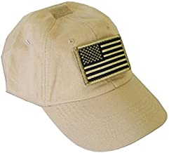 Tactical Special Force Shooters Cap Hat with US American Flag - TAN