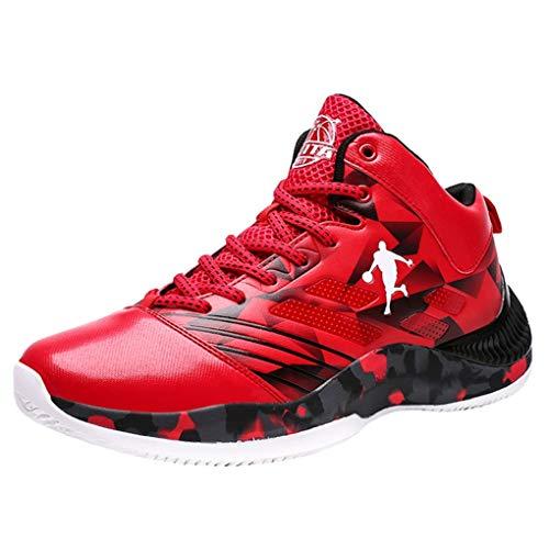 Zapatillas de Baloncesto Botas de Entrenamiento de caña Alta para Hombre Zapatillas de Deporte Antideslizantes para Exteriores Antideslizantes Zapatillas para Caminar