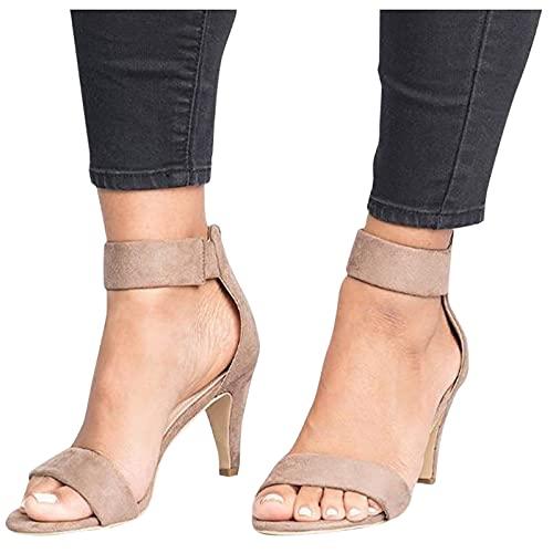 Sandalias Mujer Verano 2021 Sandalias De TacóN Alto para Mujer Sandalias De Vestir con Punta Abierta De Moda