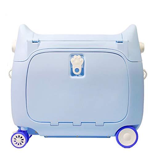 FREEUP Maleta con ruedas, equipaje de mano para niños, Suitcase 20 L – 2,5 kg, equipaje para niños, 51 x 20 x 45 cm, multifunción, color azul