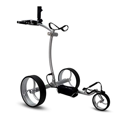 tour-made RT-650S PRO Quickfold Lithium Elektro Golftrolley - mit elektronischer Bergabfahrbremse - Golftrolley Elektrisch Deutscher Händler NEU 2021 Silber-Silber - 5