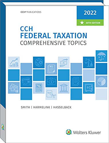 Compare Textbook Prices for Federal Taxation: Comprehensive Topics 2022  ISBN 9780808055990 by Smith, Ephraim P,Hasselback, James R,Harmelink, Philip J