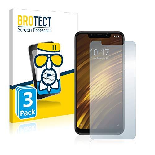 BROTECT Entspiegelungs-Panzerglasfolie kompatibel mit Xiaomi Pocophone F1 (3 Stück) - Anti-Reflex Panzerglas Schutz-Folie Matt